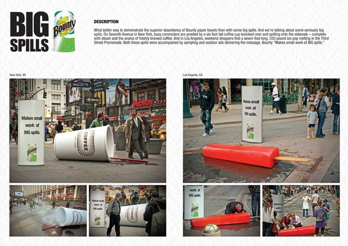 Рекламная кампания бумажных полотенец Bounty
